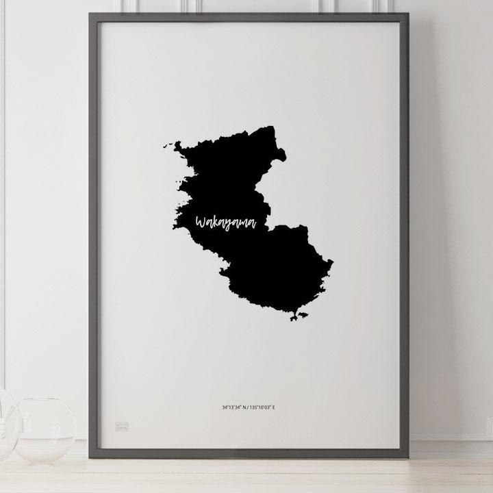 -Japan Map Poster-和歌山