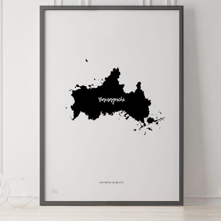 -Japan Map Poster-山口