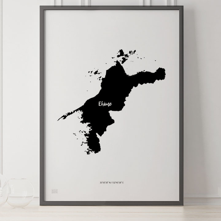 -Japan Map Poster-愛媛