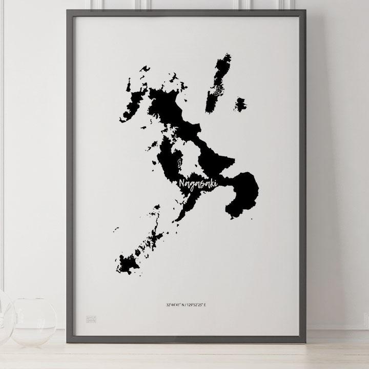 -Japan Map Poster-長崎