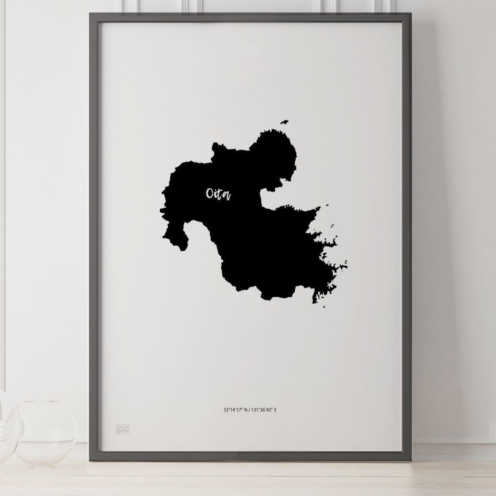 -Japan Map Poster-大分