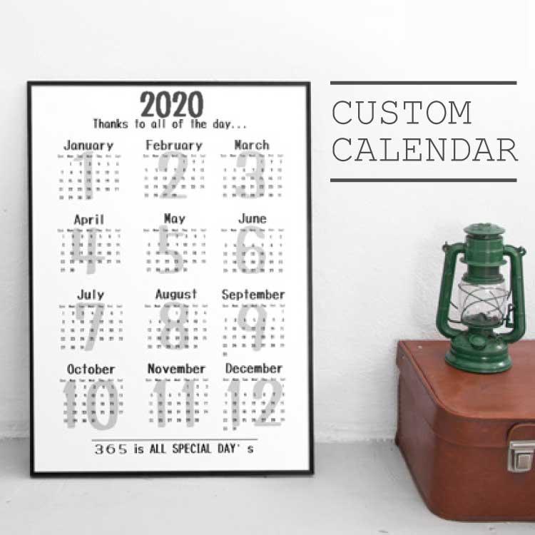オリジナルカスタムカレンダー