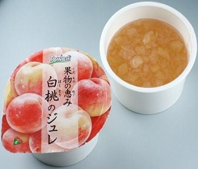 果物の恵み(白桃のジュレ)50g(40個入×3箱)