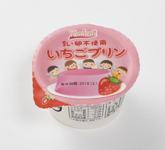 いちごプリン60g(乳不使用・卵不使用)(12個入)