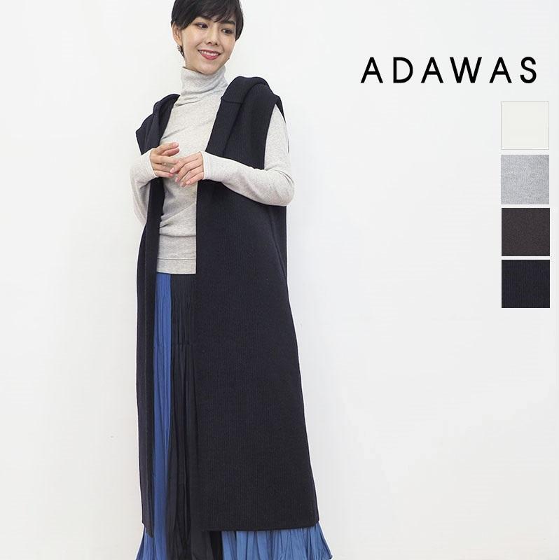【21AW新作】ADAWAS アダワス ADWS-101-19 ライトインレイフーディ―ベスト LIGHT INLAY HOODED VEST   アウター 秋冬 21AW