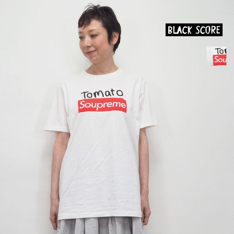【40%OFF】BLACK SCORE ブラックスコア Tomato Soupreme ロゴT プリントTシャツ 10393005 Simeon Farrar シメオン ファラー | 20SS トップス 春夏