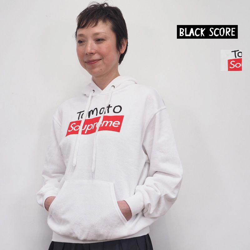 【40%OFF】BLACK SCORE ブラックスコア Tomato Soupreme ロゴパーカー プリントパーカー 10393105 Simeon Farrar シメオン ファラー | 20SS トップス 春夏