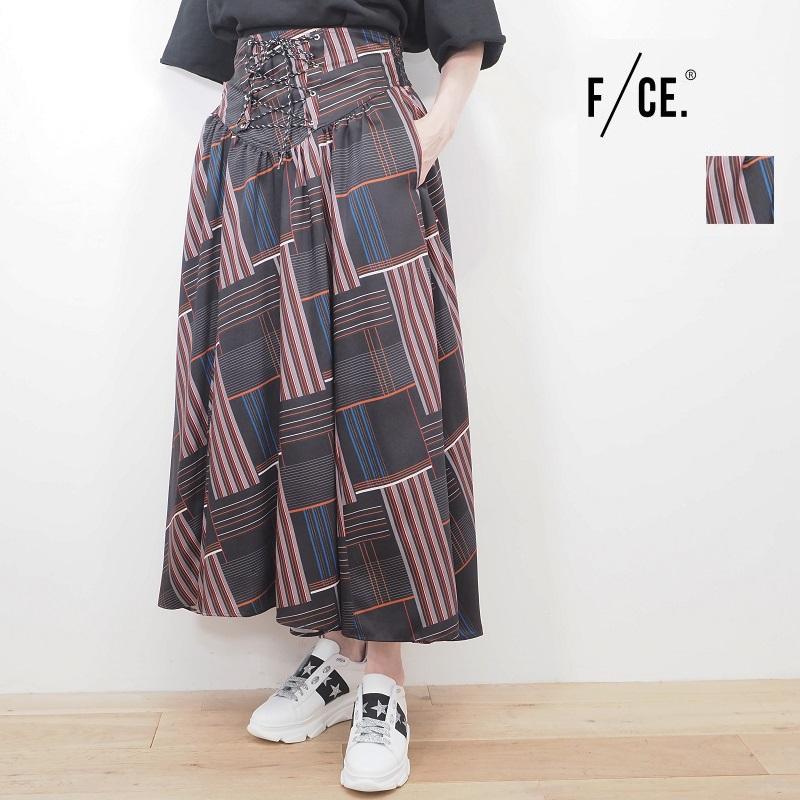 【40%OFF】F/CE. エフシーイー モザイクプリントギャザースカート F2001FCWSK0002 GATHERED SKIRT FCE   20SS ボトムス 春夏