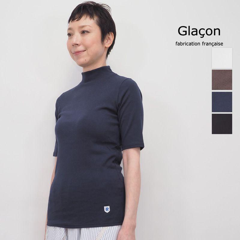 【20SS新作】Glacon グラソン ハイネック5分袖カットソー G-20SS 22 Mock Neck Tee   20SS トップス 春夏