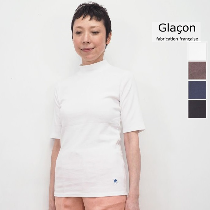 Glacon グラソン ハイネック5分袖カットソー G-20SS 22 Mock Neck Tee | 20SS トップス 春夏