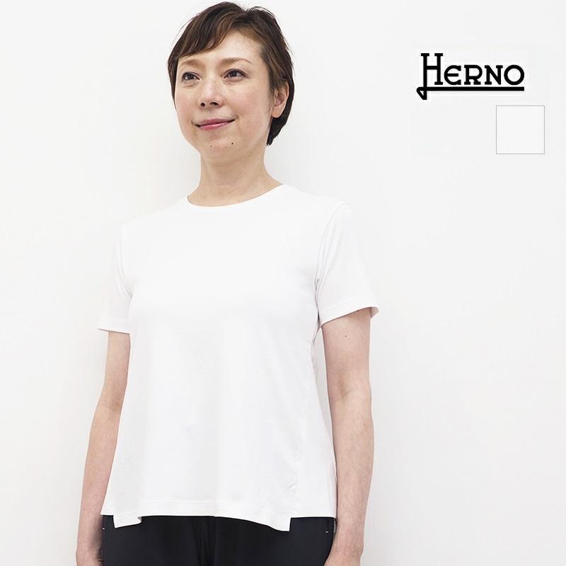 【正規品】HERNO ヘルノ JG003DL 異素材切り替え ラミナーコンパクトTシャツ Laminar  | アウター 春夏 21SS