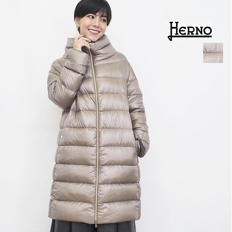 【21AW新作】【正規品】HERNO ヘルノ PI1283DIC シャイニーナイロンミドルダウンジャケット ICONICO    アウター 春夏 21AW
