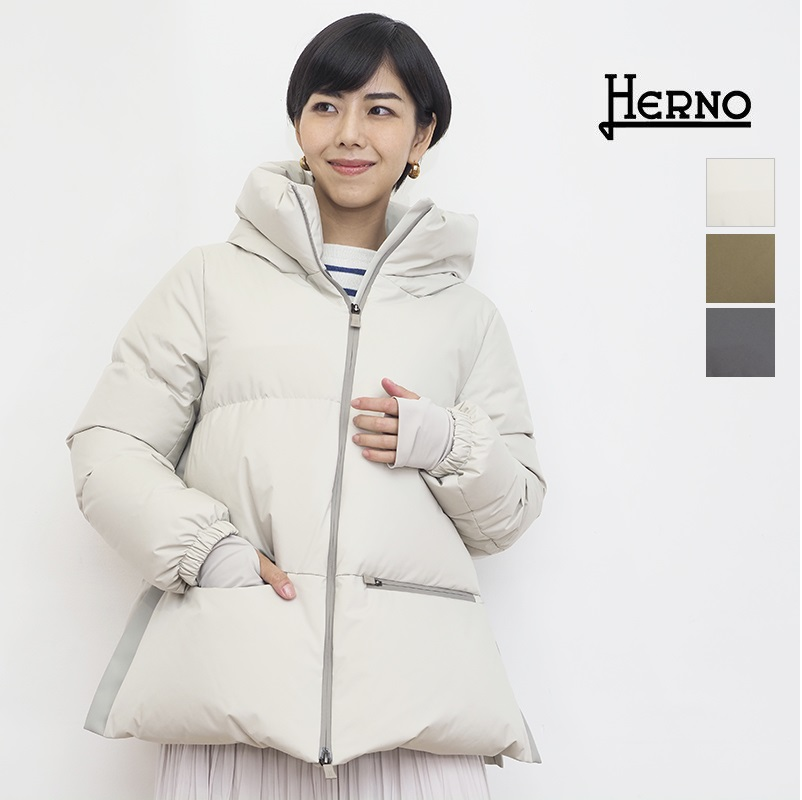 【21AW新作】【正規品】HERNO ヘルノ PI155DL ゴアテックスインフィニウム ラミナーショートダウンジャケット GORE-TEX Laminor | アウター 秋冬 21AW