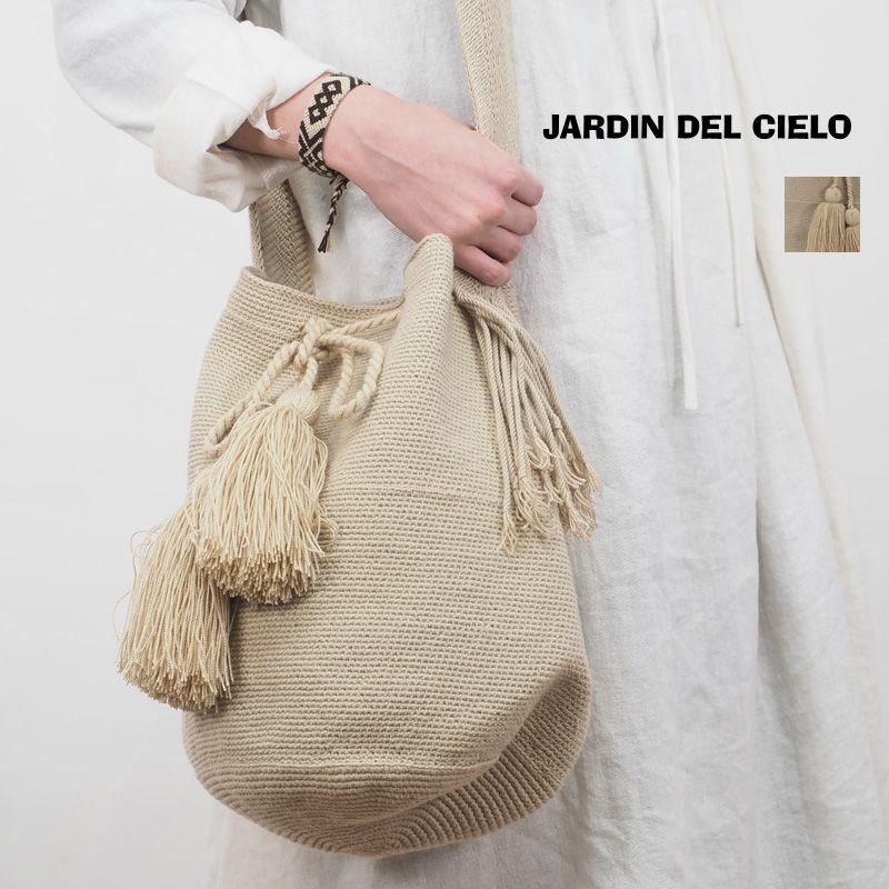 【20SS新作】JARDIN DEL CIELO ジャーディンデルシエロ タッセル巾着ショルダーバッグ ワユウ族 WAYUU TRAD MOCHILA BAG BIG | 20SS バッグ 春夏
