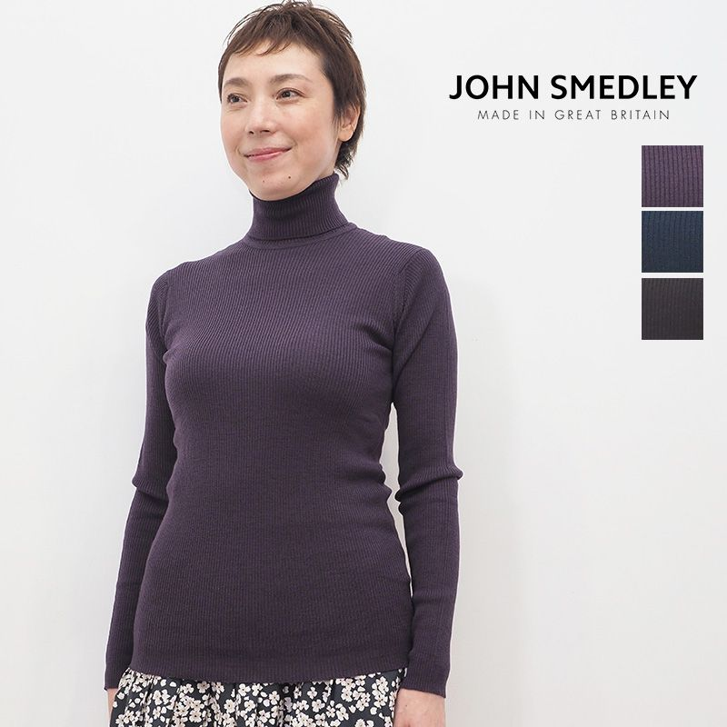【20AW新作】JOHN SMEDLEY ジョンスメドレー MASSEY リブニットタートルネックプルオーバー | 20AW トップス 秋冬