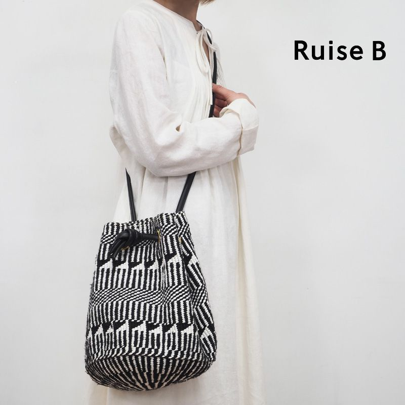 Ruise B ルイズビー ケニア バケツ型巾着ショルダーバッグ KNWO-ASS-GLOVE | 20SS バッグ 春夏
