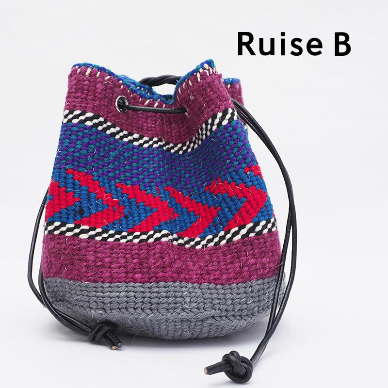5/28販売開始【21SS新作】Ruise B ルイズビー ケニア バケツ型巾着ショルダーバッグ KNWO-ASS-NPO D   21SS バッグ 春夏