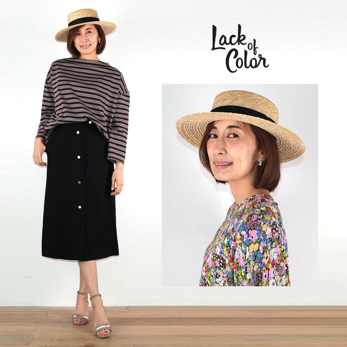 Lack of Color ラックオブカラー THE SPENCER BOATER カンカン帽 帽子| 19SS