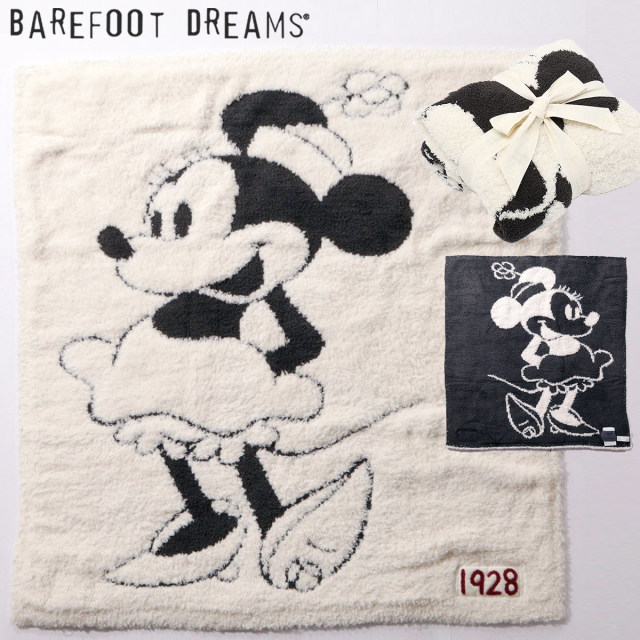 BAREFOOT DREAMS ベアフットドリームズ 9940100068 D105 Classic Minnie Mouse / Baby Blanket ブランケット クリーム | 19SS 新作