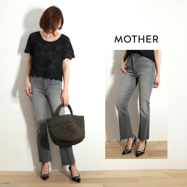 MOTHER マザー デニムパンツ MOTHER/1117-496 THE HUSTLER ANKLE FRAY | 19SS