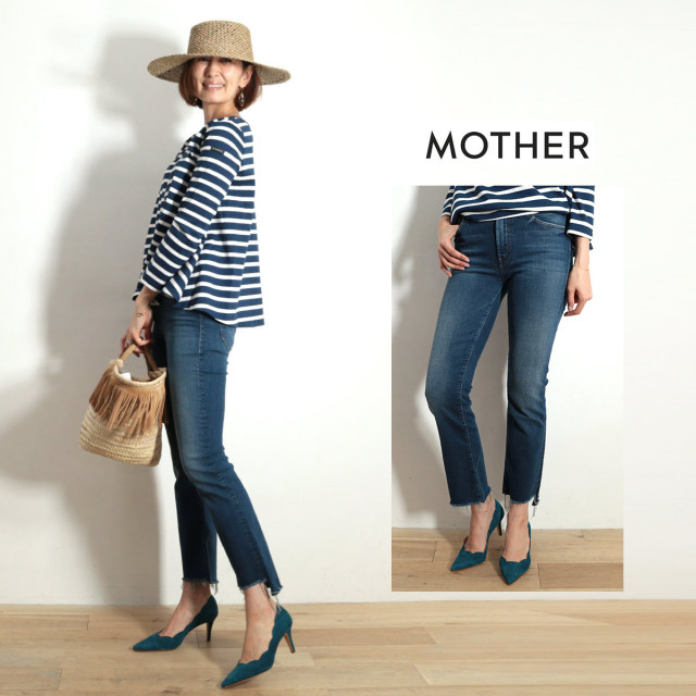 MOTHER マザー デニムパンツ 1157-558 INSIDER CROP STEP FRAY | 19SS 新作