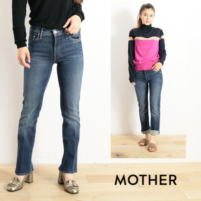 MOTHER マザー ウォッシュドフレアヘムデニム THE OUTSIDER ANKLE 1537-104 2810600260 インディゴ|18aw