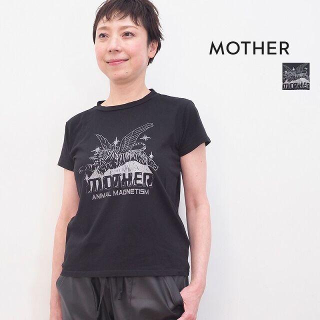 3/23販売開始【21SS新作】MOTHER マザー 8231-315 097Black タイガープリントTシャツ カットソー THE BOXY GOODIE GOODIE | 21SS トップス 春夏