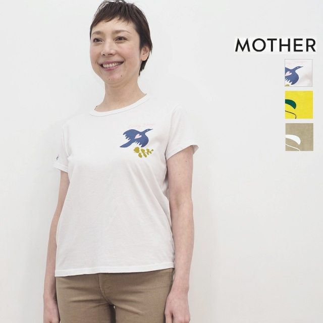 【期間限定販売】MOTHER マザー 8231-315 プリントTシャツ カットソー THE BOXY GOODIE GOODIE