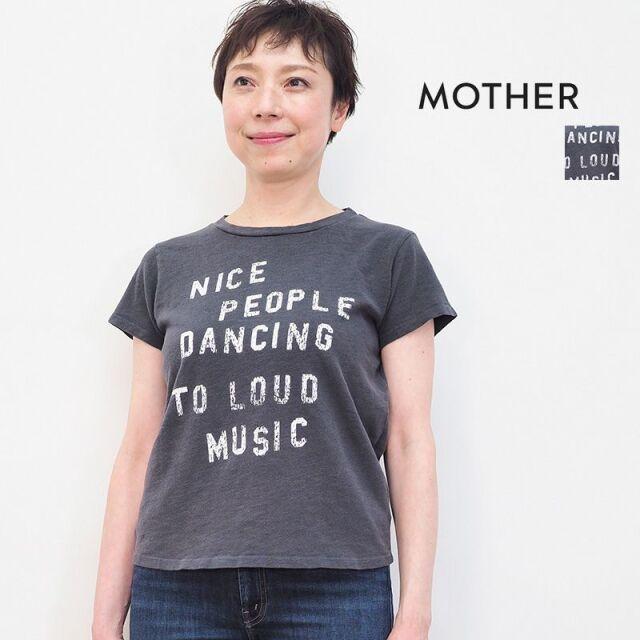 3/23販売開始【21SS新作】MOTHER マザー 8231-601 アルファベットプリントTシャツ カットソー THE BOXY GOODIE GOODIE   21SS トップス 春夏