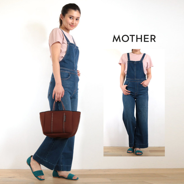 MOTHER マザー デニムオーバーオール 9364-664 The Greaser Overall Crop オールインワン サロペット インディゴ | 19SS 新作