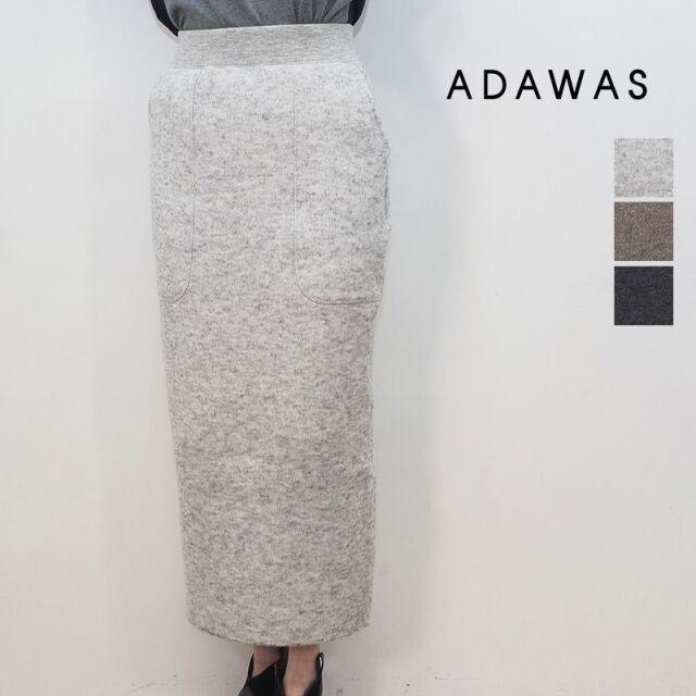 【20AW新作】ADAWAS アダワス ADWS-001-34 モヘア インレイ編み ニットタイトスカート MOHAIR INRAY SKIRT | 20AW ボトムス 秋冬