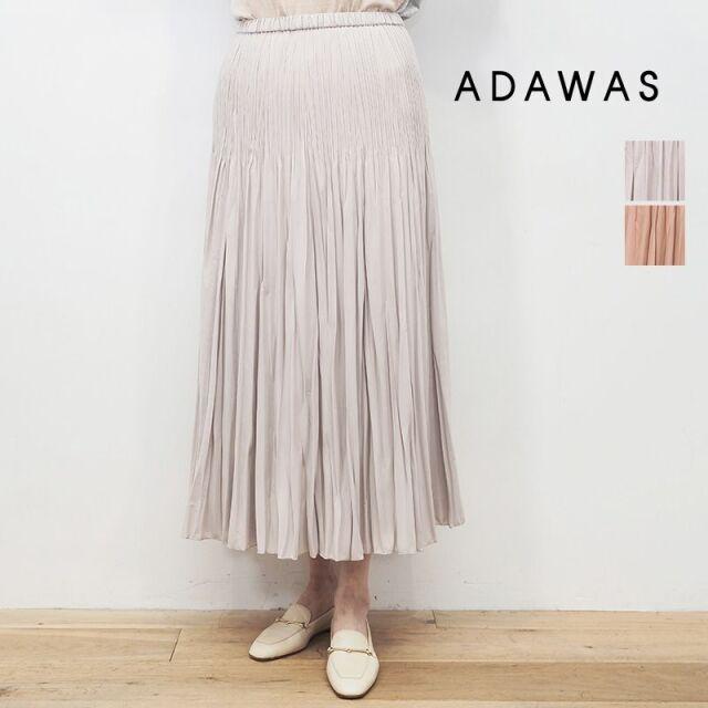 【20AW新作】ADAWAS アダワス ADWS-001-40 ランダムプリーツフレアロングスカート PLEATS SKIRT | 20AW ボトムス 秋冬