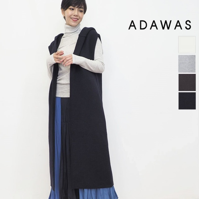 【21AW新作】ADAWAS アダワス ADWS-101-19 ライトインレイフーディ―ベスト LIGHT INLAY HOODED VEST | アウター 秋冬 21AW