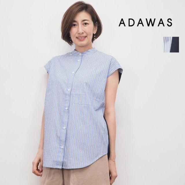 【20SS新作】ADAWAS アダワス ADWS-910-04B SHIRT KNIT FRENCH シャツニットプルオーバー | 20SS 春夏