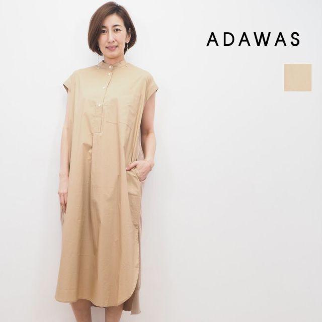 【20SS新作】ADAWAS アダワス ADWS-910-05A SHIRT KNIT DRESS シャツニットワンピース | 20SS トップス 春夏