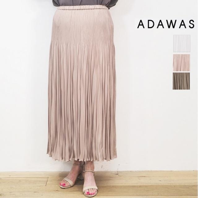 【即納販売開始】ADAWAS アダワス ADWS-008-28 ダブルプリーツマキシスカート DOUBLE PLEATS MAXI SKIRT /OLD ROSE | ボトムス 春夏 21SS