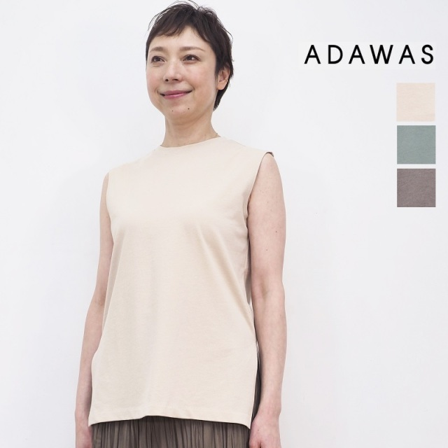 2/1販売開始【21SS新作】ADAWAS アダワス ADWS-008-37 ドライツイルタンクトップ カットソー DRY TWILL TANK TOP | トップス 春夏 21SS