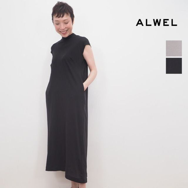 【20SS新作】ALWEL オルウェル CSM-5 SHORT SLEEVE SWING DRESS フレンチスリーブカットソーワンピース   20SS 春夏