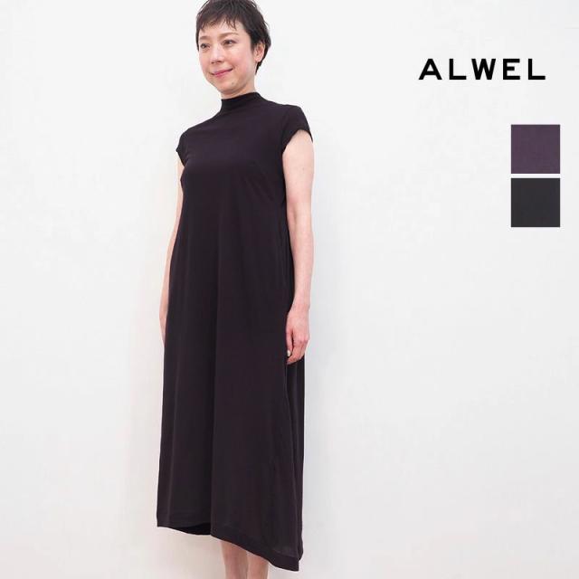 3/24販売開始【21SS新作】ALWEL オルウェル CSM-5 SHORT SLEEVE SWING DRESS フレンチスリーブカットソーワンピース | 21SS 春夏
