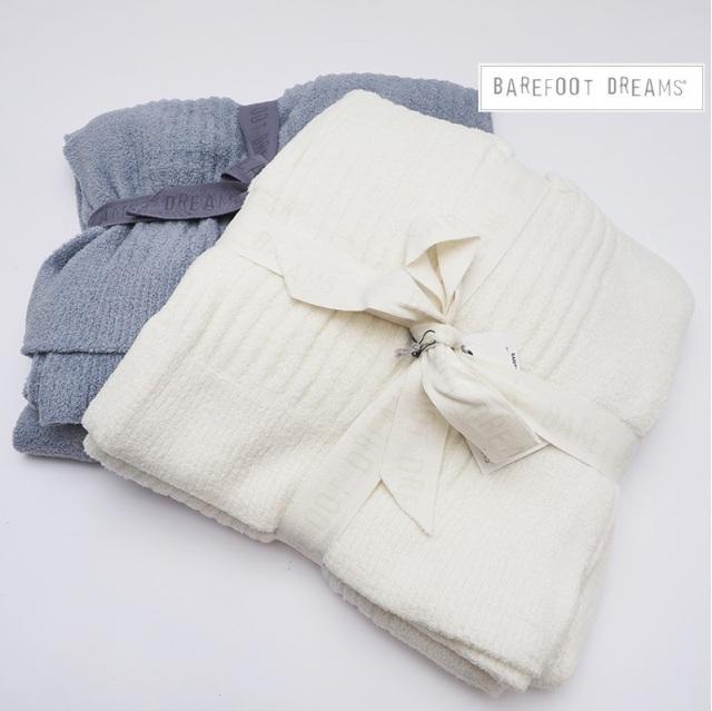 【期間限定販売】BAREFOOT DREAMS ベアフットドリームス リブ編みブランケット 毛布 Ribbed Throw 463 9910100067 ギフト 毛布 プレゼント お祝い シングル/セミダブル