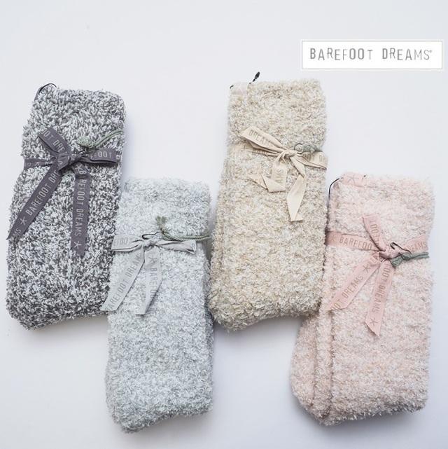 【期間限定販売】BAREFOOT DREAMS ベアフットドリームス レディースルームソックス 杢 Women's Heathered Socks 614 9910100083 モコモコソックス 女性用 ギフト プレゼント 靴下