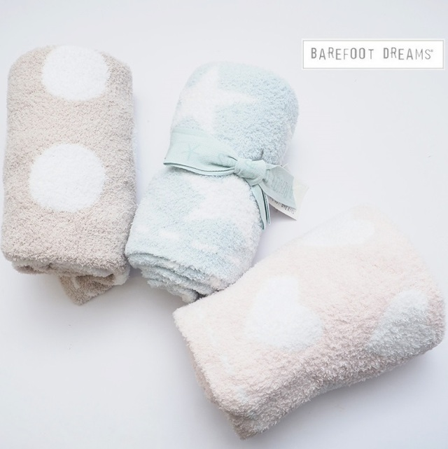 【期間限定販売】BAREFOOT DREAMS ベアフットドリームス ベビーブランケット Dream Receiving Blanket 531 9940100004 ギフト 毛布 赤ちゃん用 プレゼント 出産祝い