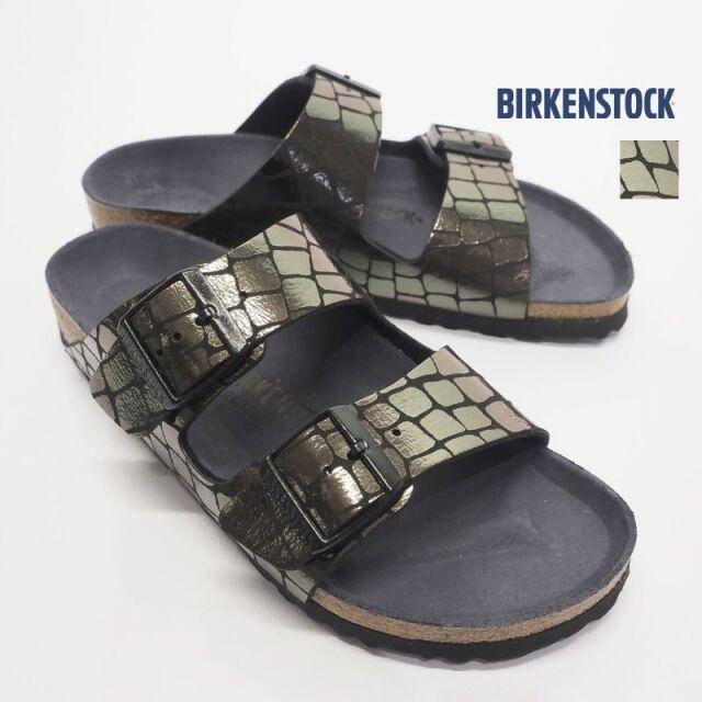 【20SS新作】BIRKENSTOCK ビルケンシュトック メタリッククロコダイル調 2ベルトフラットサンダル アリゾナ ARIZONA 1016045 | 20SS シューズ 春夏