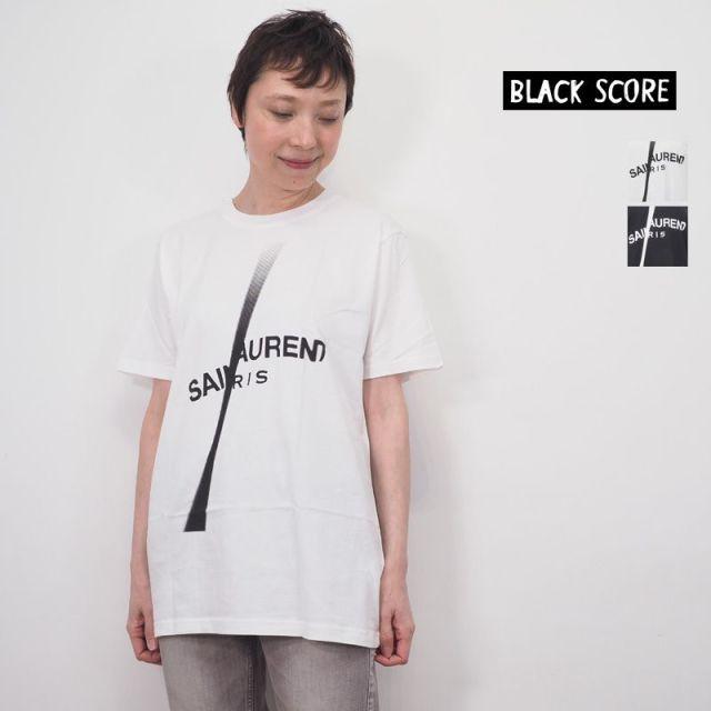 【20SS新作】BLACK SCORE ブラックスコア  ロゴT プリントTシャツ SAINTLAURENT SL 10301011 BSMCC Simeon Farrar シメオン ファラー   20SS トップス 春夏