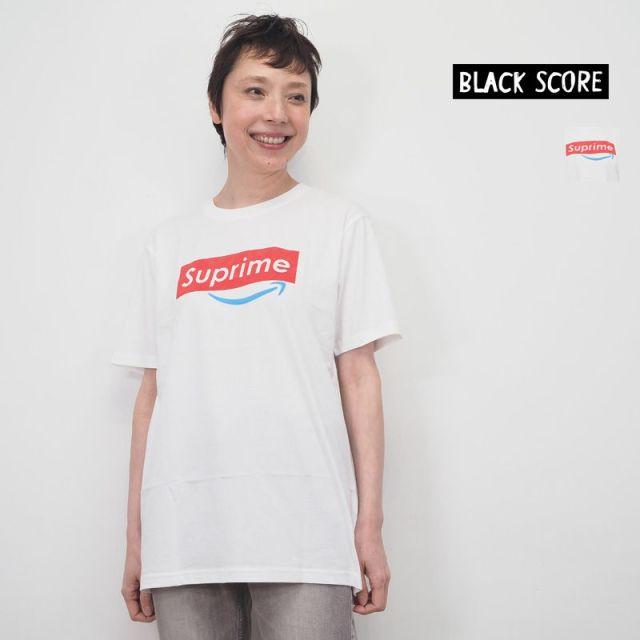 BLACK SCORE ブラックスコア  ロゴT プリントTシャツ SUPRIME×AmazonPrime 10301013 BSMCC Simeon Farrar シメオン ファラー | 20SS トップス 春夏