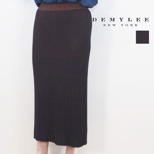 【20AW新作】DEMYLEE デミリー 3210500012 Ada lurex Skirt ラメ配色リブニットタイトスカート | 20AW ボトムス 秋冬