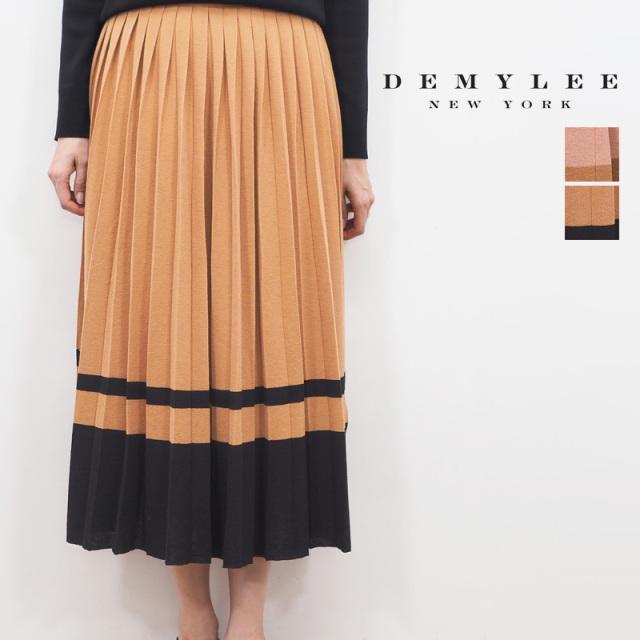 【20SS新作】DEMYLEE デミリー 3110500014 配色ボーダー プリーツニットロングスカートOlga Skirt | 20SS ボトムス 春夏