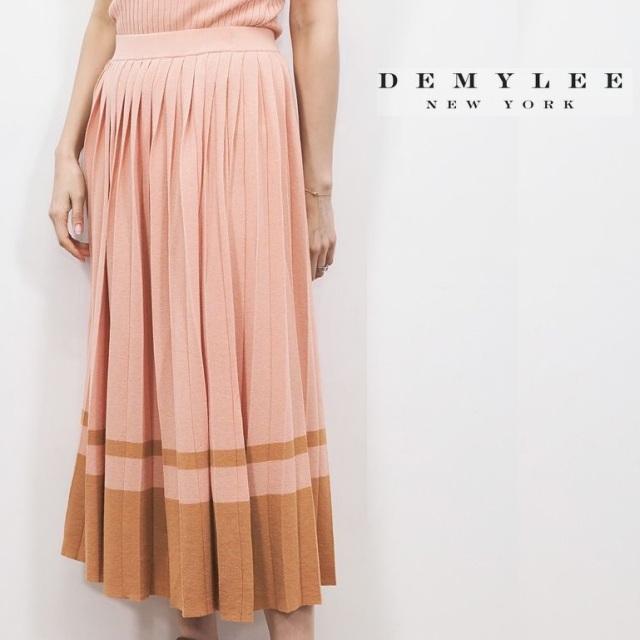 【40%OFF】DEMYLEE デミリー 3110500014 配色ボーダー プリーツニットロングスカートOlga Skirt | 20SS ボトムス 春夏
