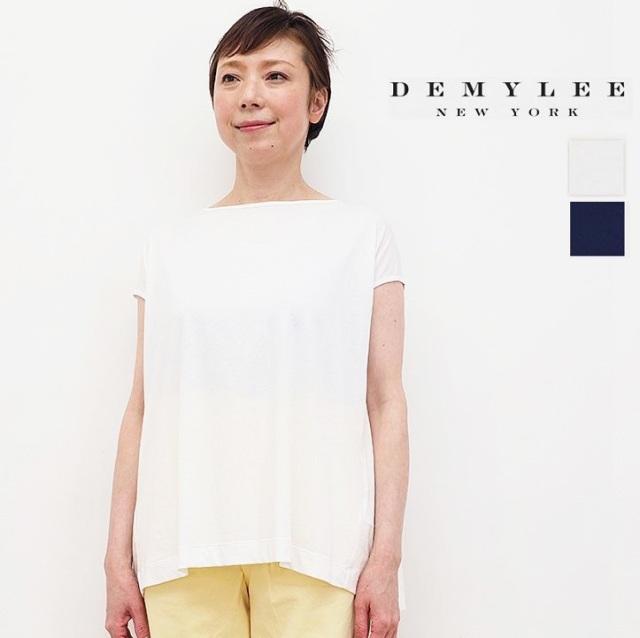 DEMYLEE デミリー SydneyTop バックギャザーブラウス Tシャツ コットン カットソー 3310900160/9910900150 | 春夏 トップス 21SS