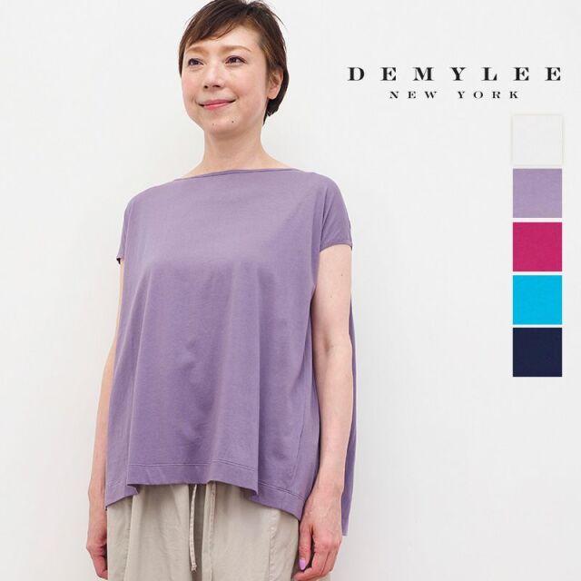 【30%OFF】DEMYLEE デミリー SydneyTop バックギャザーブラウス Tシャツ コットン カットソー 3310900160/9910900150   春夏 トップス 21SS